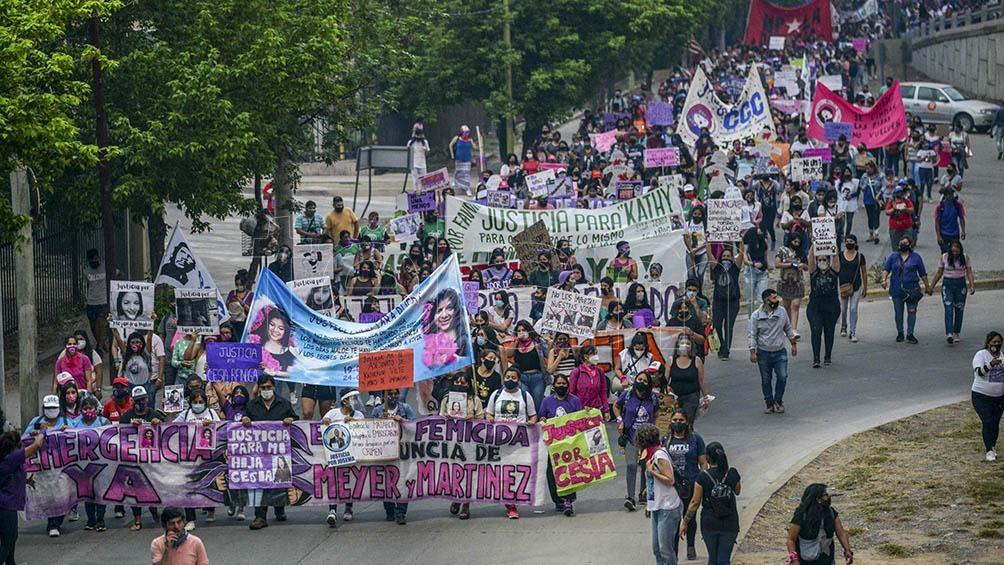 Marchas en Palpalá, Jujuy, contra los femicidios y pidiendo justicia por las víctimas