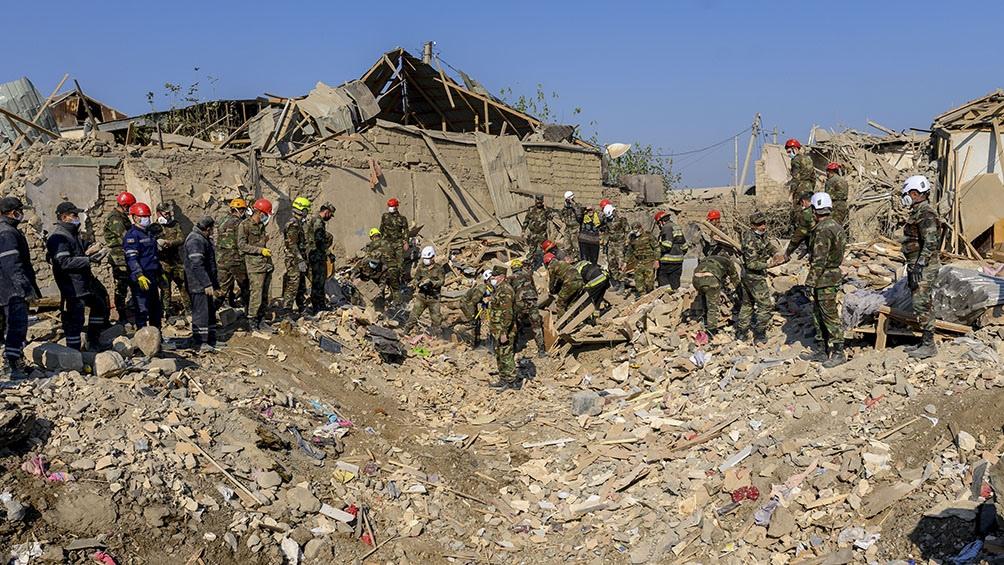 Los enfrentamientos se desarrollaron en la región separatista de Nagorno Karabaj.