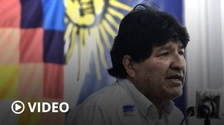 """Triunfante, Evo Morales prometió que """"tarde o temprano"""" volverá a Bolivia"""