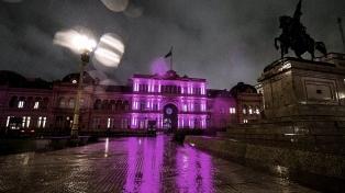 Iluminan la Casa Rosada por el Día Mundial de Lucha contra el Cáncer de Mama