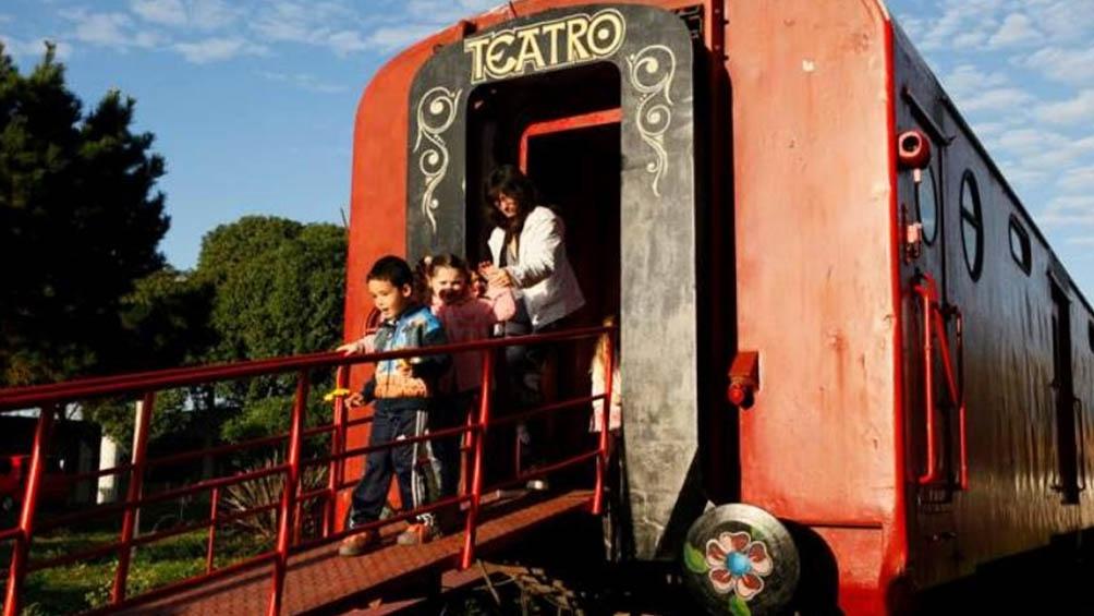 El vagón de Los títeres, en Mar del Plata