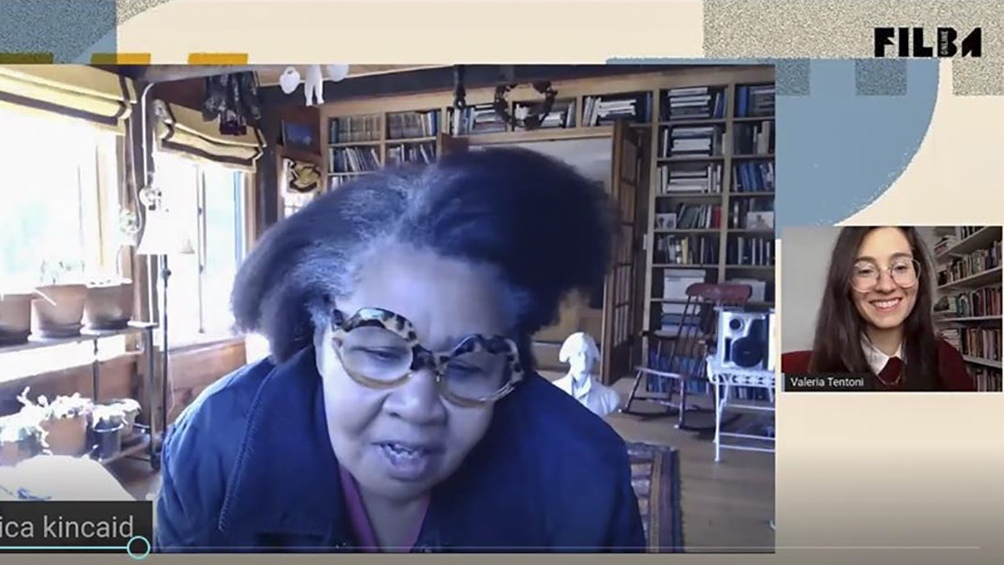La escritora Jamaica Kincaid, nacida en Antigua y radicada en Estados Unidos participó del Filba