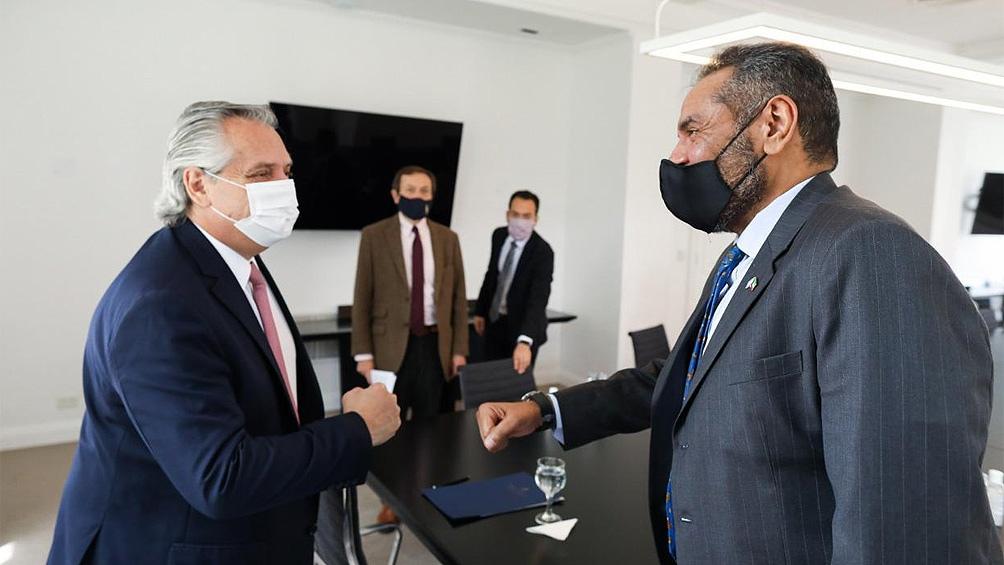 """El embajador de Kuwait, Abdullah Ali Alyahya, manifestó: """"Mi país va a estar siempre apoyando a la Argentina""""."""
