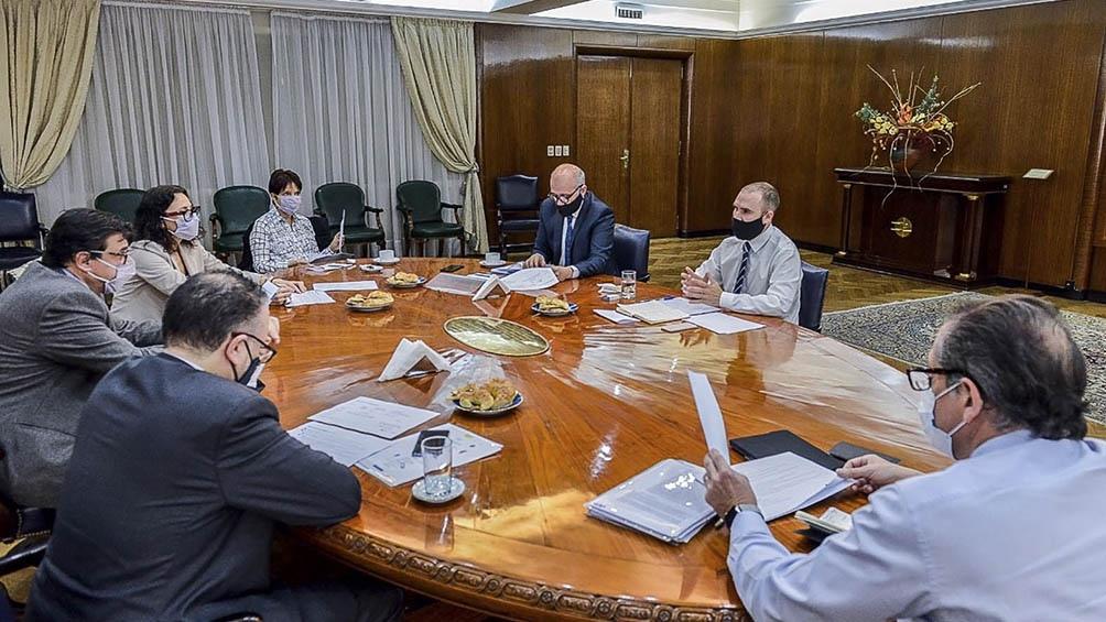 El encuentro se realizó en el Palacio de Hacienda.