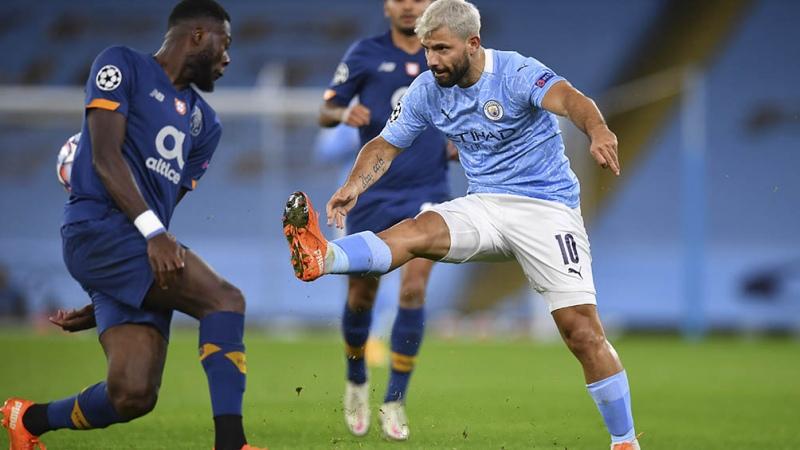 Manchester City, con gol de Agüero, derrotó al Porto - Télam - Agencia Nacional de Noticias