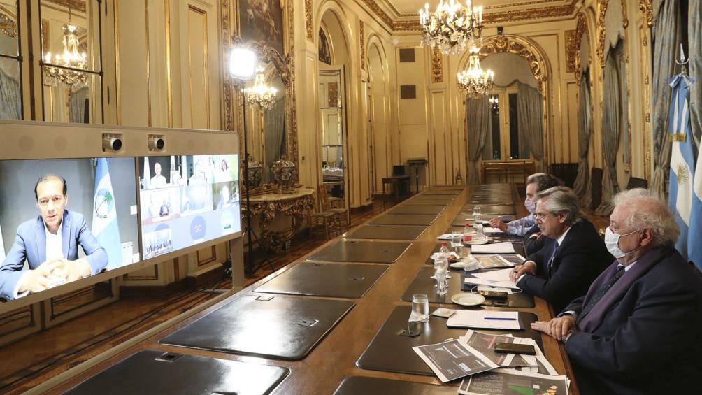 Este jueves el mandatario mantuvo un encuentro virtual con varios gobernadores.