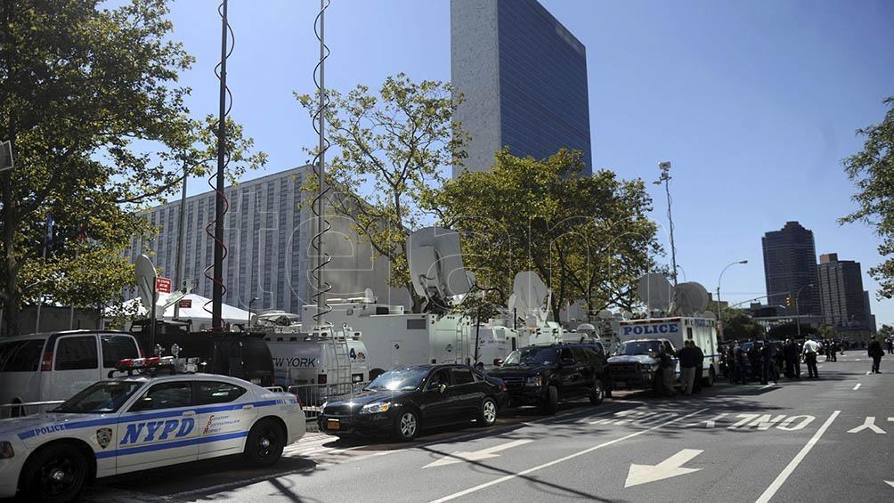Sede central de las Naciones Unidas, ubicada en la ciudad de Nueva York.