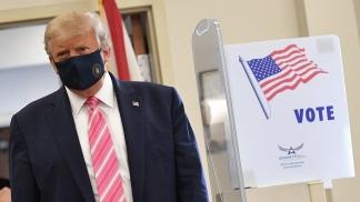 Donald Trump, al votar por anticipado