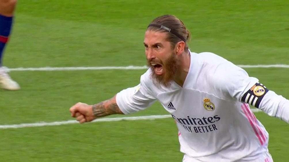 Ramos regresó al equipo y festejó ante Barcelona (Foto: ImagenTV)