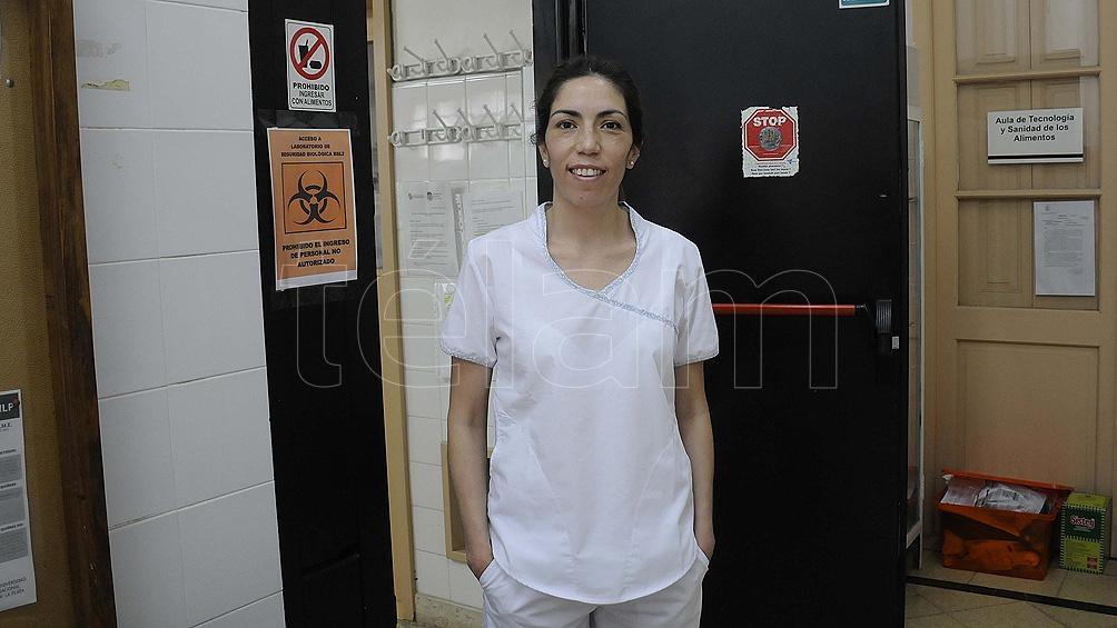 Nadia Fuentealba, investigadora del Conicet e integrante del equipo de investigación de La Plata.