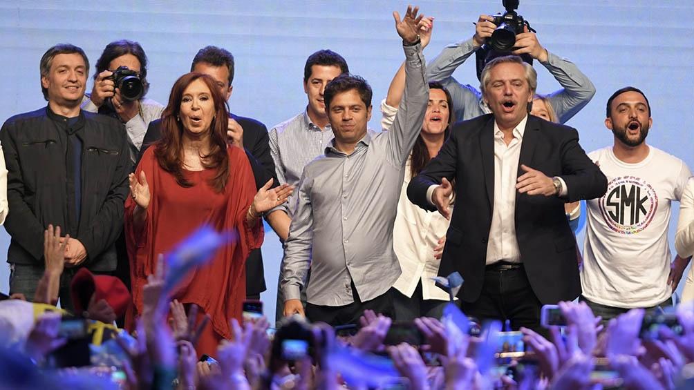 El binomio Alberto Fernández - Cristina Fernández logró el 48,24 por ciento de los votos.