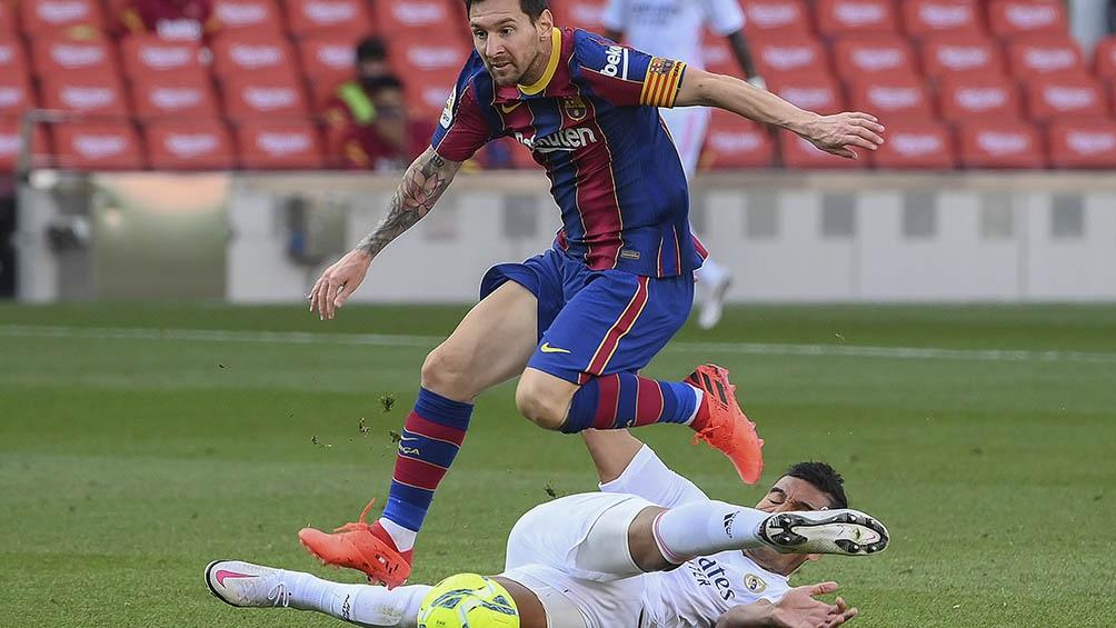 Messi jugó bien, pero su equipo no pudo con el Real Madrid en el Camp Nou.