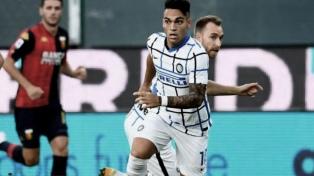 Inter de Lautaro Martínez venció a Genoa y quedó tercero