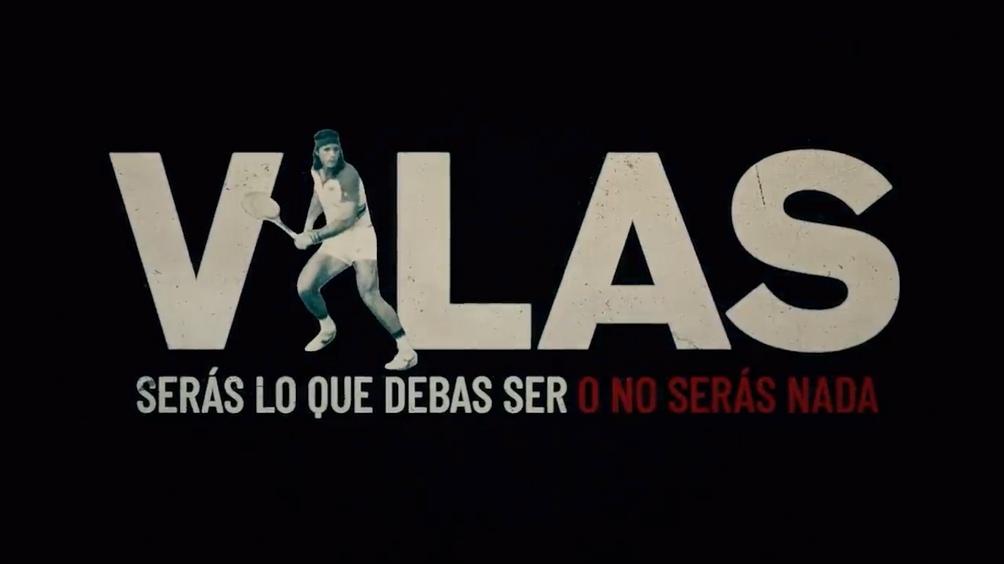 El afiche del documental que reivindica al máximo tenista argentino.