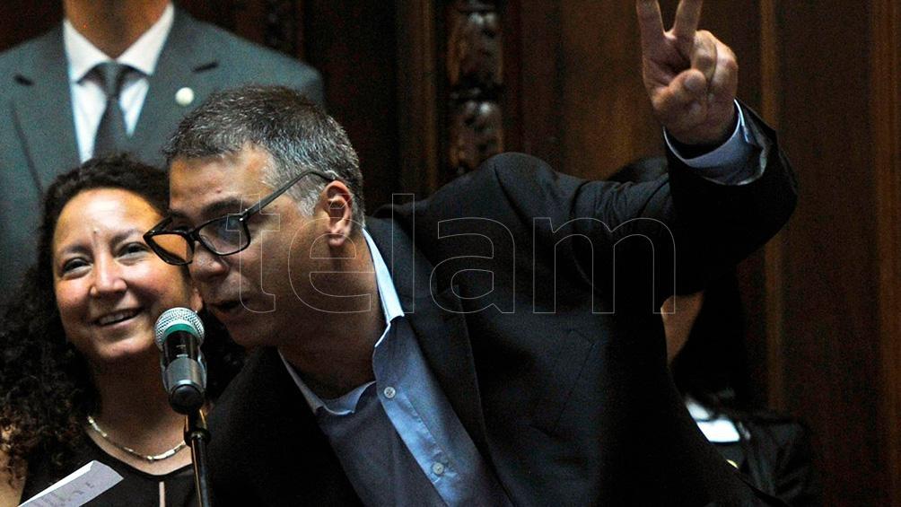 El legislador del Frente de Todos (FdT) Javier Andrade.