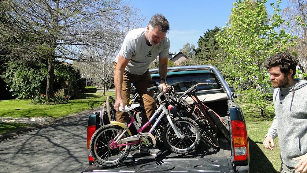 La Ong recibió más de 300 bicicletas, de las cuales, 200 ya fueron reparadas.