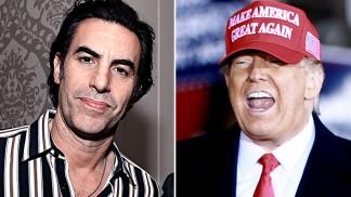 Baron Cohen y Trump enfrentados por la última película del cómico.