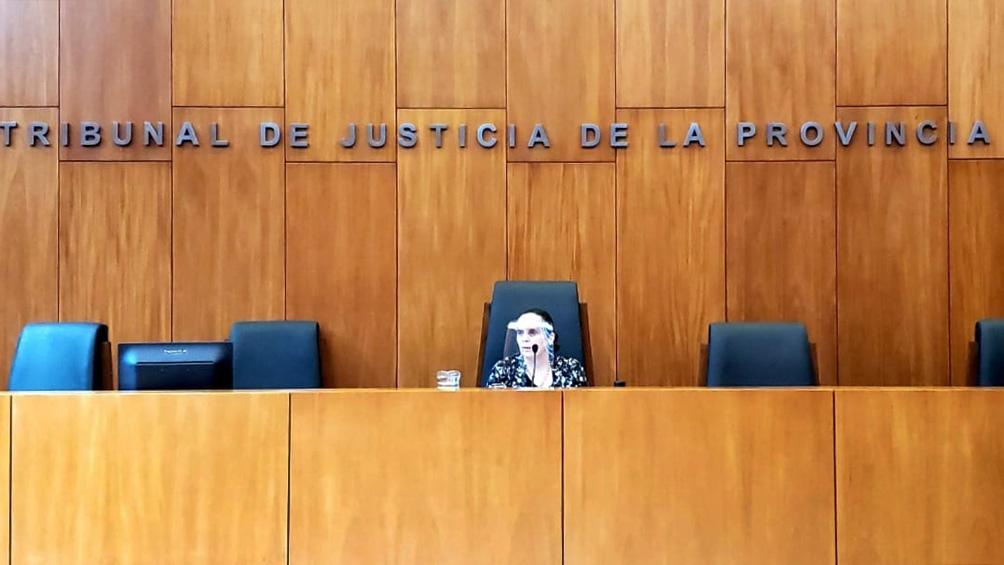 La jueza Castagno en la audiencia del miércoles.