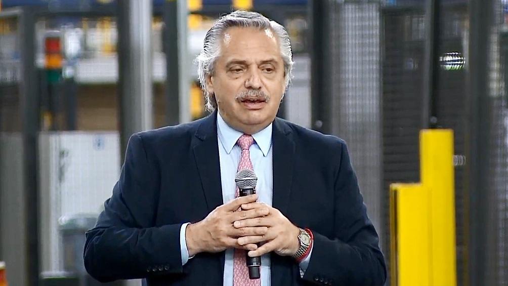 Alberto Fernández encabezó el acto en Luján