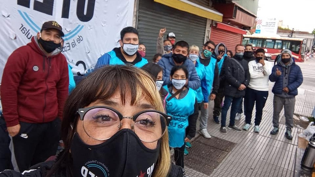 Los vendedores denunciaron que hubo represión por parte de la Policía de la Ciudad de Buenos Aires.