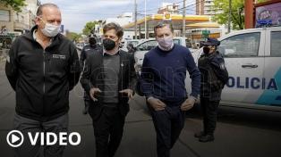 Kicillof entregó 60 patrulleros y 300 cámaras de seguridad para Esteban Echeverría