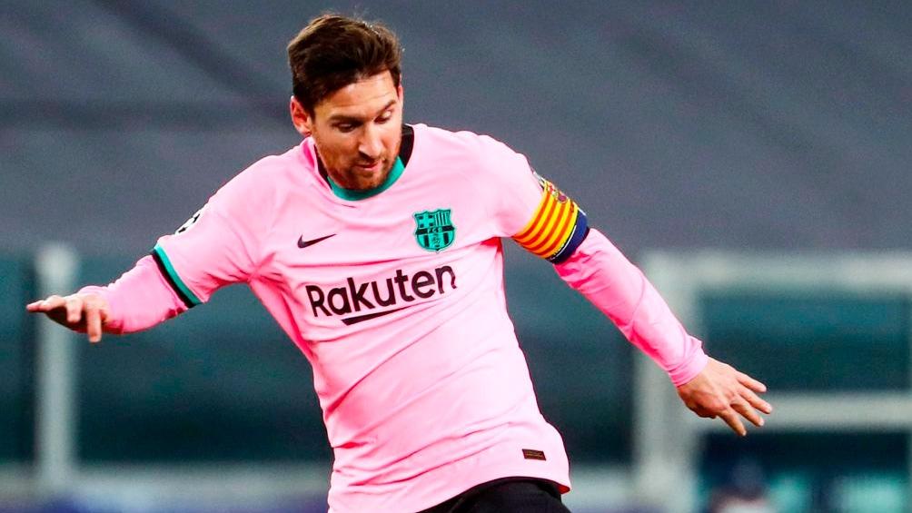 Messi, autor del segundo tanto ante Juventus, como visitante por UCL