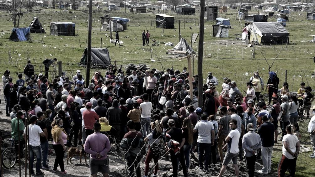 Operativo de desalojo en las tierras ocupadas en Guernica