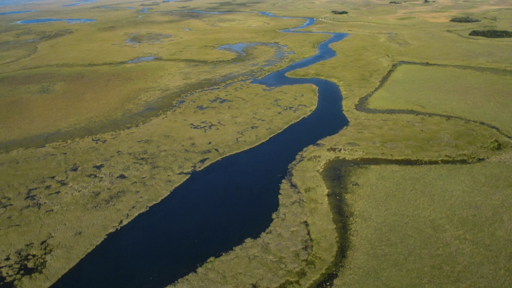 El Parque Nacional Mburucuyá está compuesto en un 60% por agua, con esteros y más de 110 lagunas.