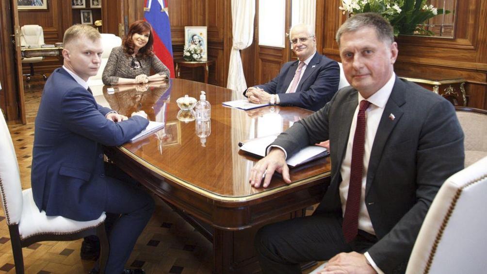 Reunión en el despacho de la vicepresidenta.