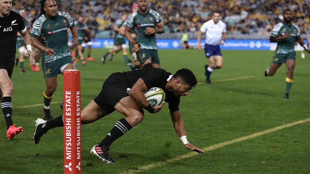 Nueva Zelanda mostró su poderío ante Australia (Foto: @AllBacks)