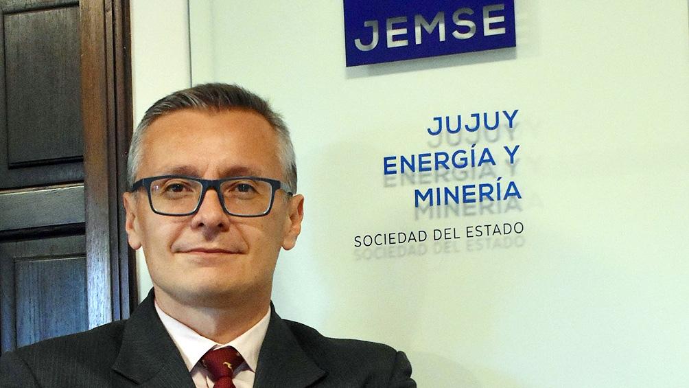 Felipe Albornoz, presidente de la empresa provincial Jujuy Energía y Minería (Jemse).