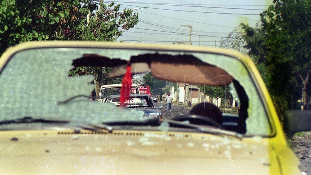 Los daños no sólo se produjeron en la fábrica sino en los barrios circundantes.