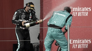 Mercedes asegura su séptimo título de constructores con la victoria de Hamilton en Imola