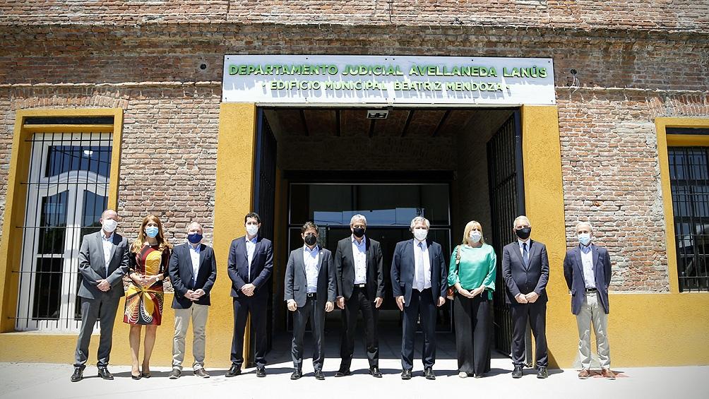El Presidente inauguró obras del edificio del Departamento Judicial Avellaneda/Lanús, en el sur del conurbano.