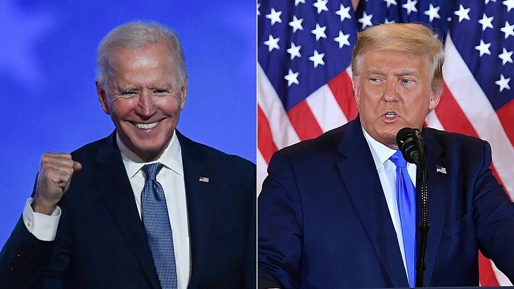 Biden y Trump en una nueva puja sobre el plan para combatir la pandemia.