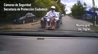 Escapó en moto haciendo �Superman� por la autopista Panamericana pero fue detenido