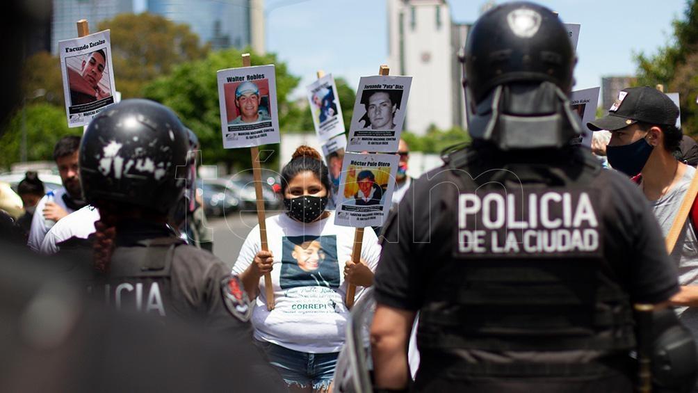 Una de las manifestaciones para pedir justicia por la muerte de Juan Pablo Kucok.