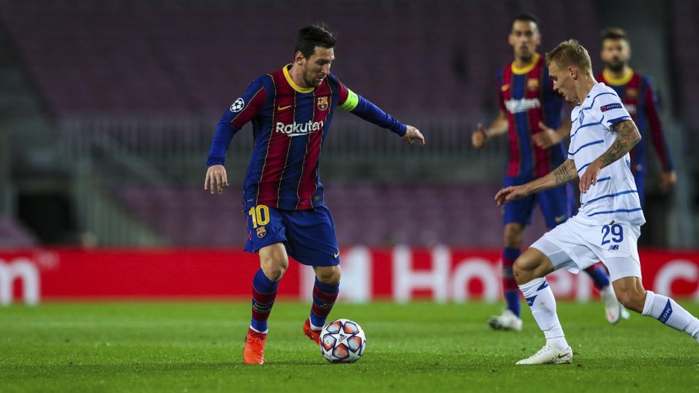 Barcelona, con gol de Messi, venció al Dínamo Kiev y sigue de racha