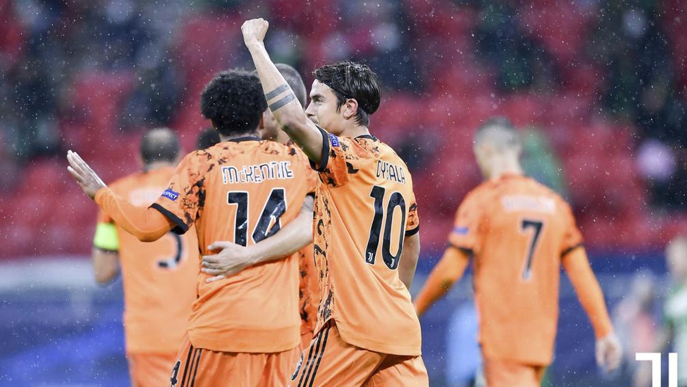 Juventus goleó en su visita a Hungría, con un tanto de Dybala