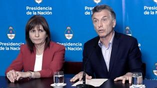 """Patricia Bullrich dijo que el lugar de Macri """"es asesorar"""" y que no se siente """"menospreciado"""""""