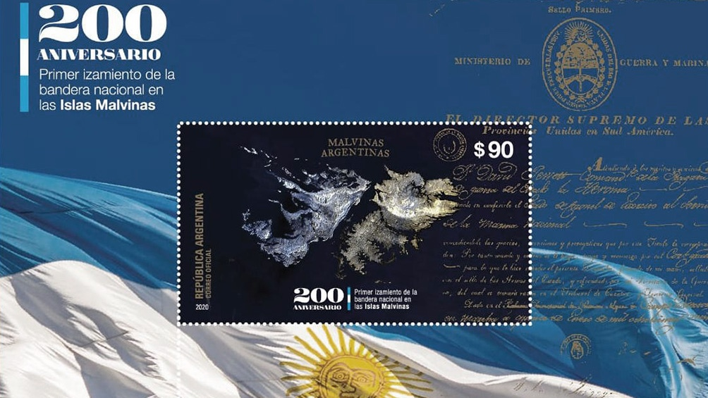 Presentan Un Sello Postal E Inauguran Una Muestra A 200 Anos Del Izamiento De La Bandera En Las Islas Telam Agencia Nacional De Noticias
