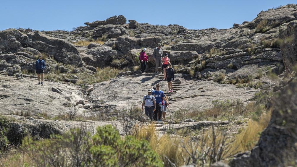 La Quebrada del Condorito, en las Altas Cumbres, es muy visitada para hacer trekking.