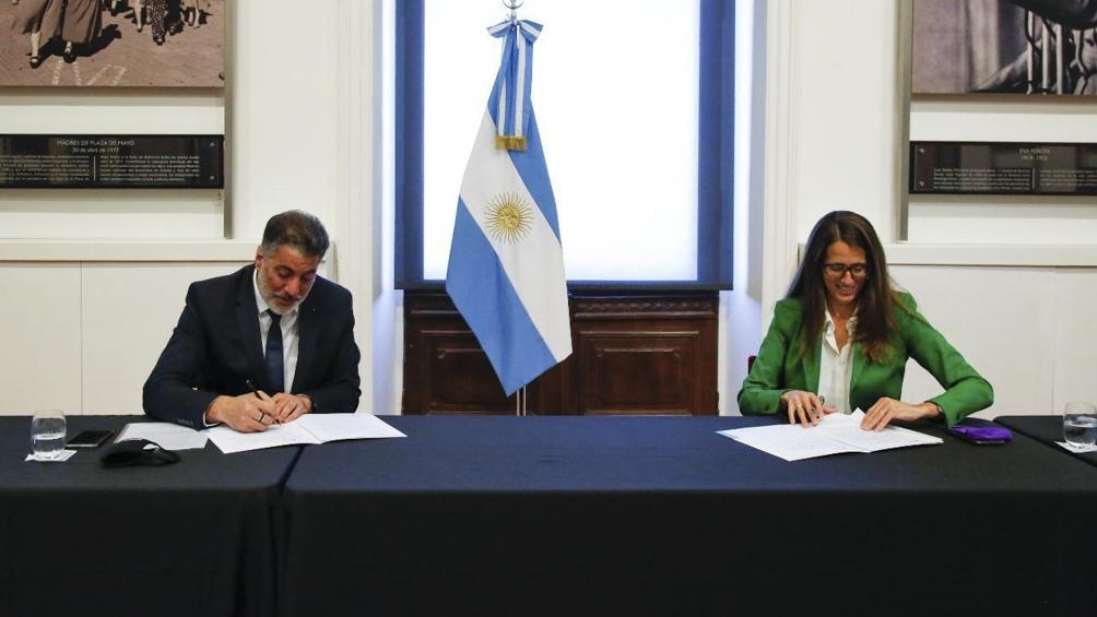Acuerdo entre el Ministerio de las Mujeres, Géneros y Diversidad y la Secretaría de Medios y Comunicación Pública