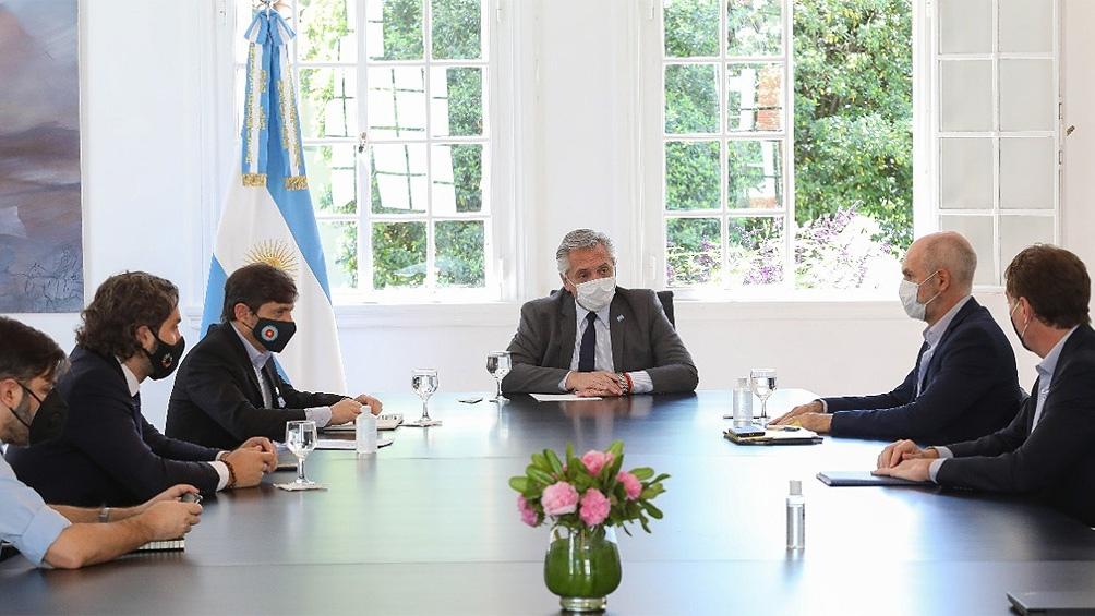 Esta mañana el Presidente analizó con Kicillof y Larreta pasar de