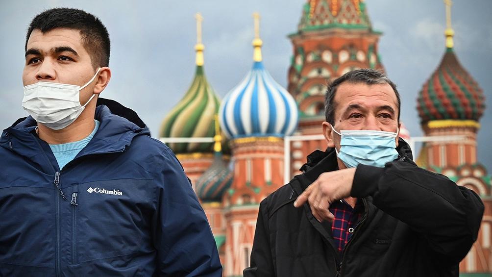 Rusia superó por vez primera los 20.000 contagios (20.582).