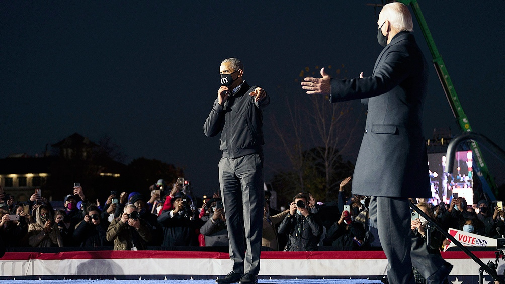 El exvicepresidente demócrata junto al expresidente
