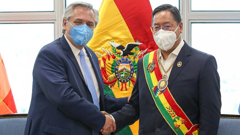 Primera reunión de Alberto Fernandez con el presidente de Bolivia