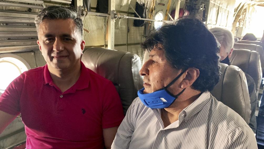 Evo Morales y exembajador de Bolivia ante la ONU Sacha Llorenti en viaje a Jujuy