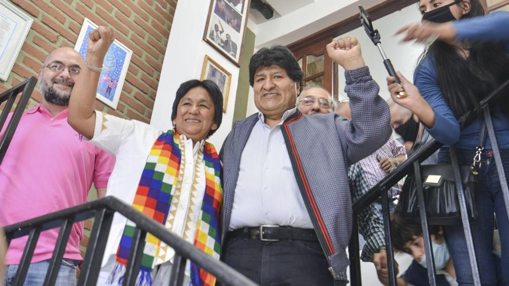 Morales realizó esta visita antes de dejar el país tras un año de exilio.