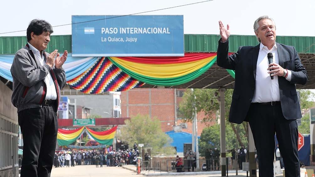"""Alberto, en La Quiaca para """"garantizar que Evo Morales regrese a su patria, de la que nunca debió haber salido""""."""